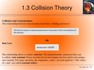 1.3 Collision Theory