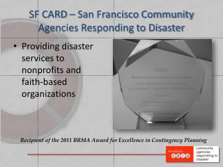 SF CARD – San Francisco Community Agencies Responding to Disaster