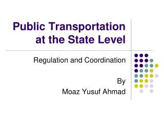 Public Transportation at the State Level