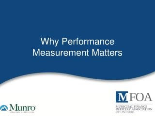 Why Performance Measurement Matters