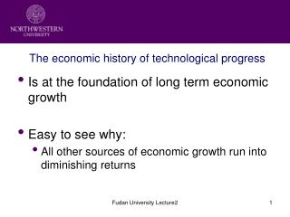 The economic history of technological progress