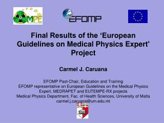 Methodology European Qualifications Framework (EQF) Summary of results Definition of an MPE