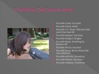 Christina DeCavalcanti