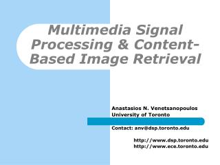 Multimedia Signal Processing & Content-Based Image Retrieval