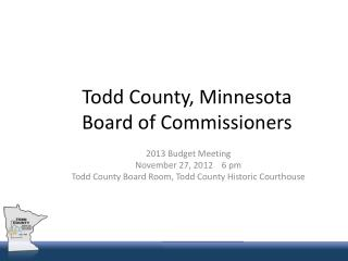 Todd County, Minnesota Board of Commissioners