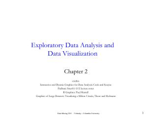 Exploratory Data Analysis and Data Visualization