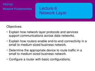 Lecture  6 Network  Layer