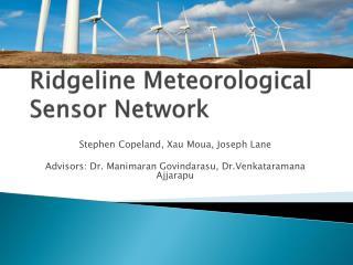 Ridgeline Meteorological Sensor Network