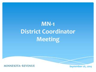MN-1 District Coordinator  Meeting
