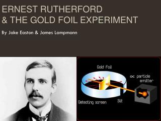 Ernest Rutherford & the Gold Foil Experiment