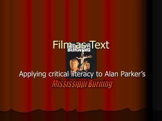 Film as Text