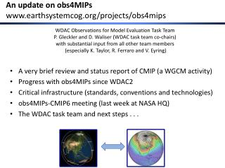 An update on obs4MIPs earthsystemcog /projects/obs4mips