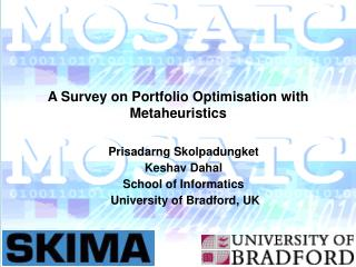 A Survey on Portfolio Optimisation with Metaheuristics