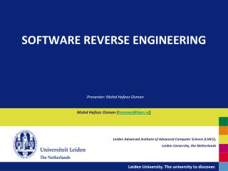 SOFTWARE REVERSE ENGINEERING