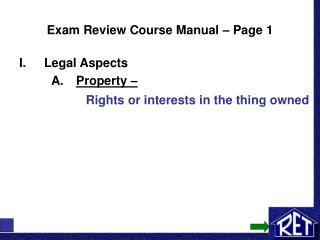 Exam Review Course Manual – Page 1