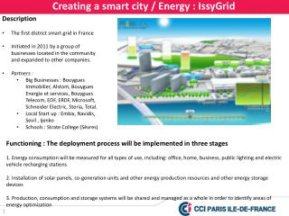 Creating a smart city / Energy : IssyGrid