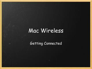 Mac Wireless