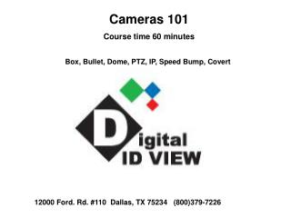 Cameras 101 Course time 60 minutes