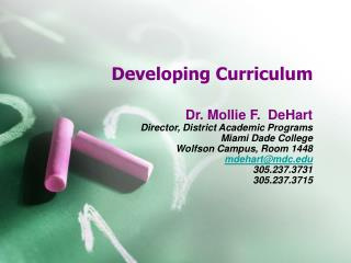 Developing Curriculum