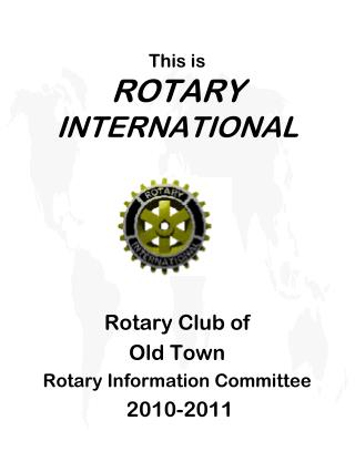 This is ROTARY  INTERNATIONAL