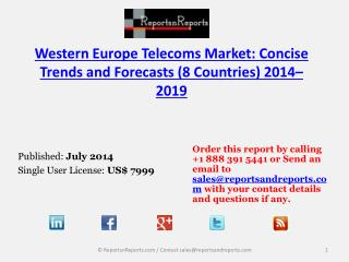 2019 Western Europe Telecoms Market Trends and Forecasts