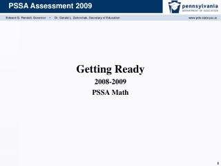 Getting Ready 2008-2009 PSSA Math