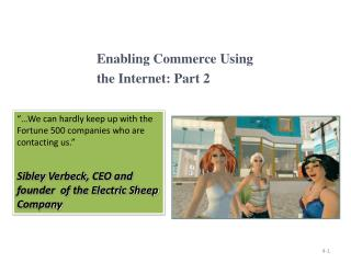 Enabling Commerce Using  the Internet: Part 2