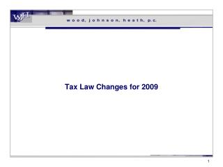 Tax Law Changes for 2009