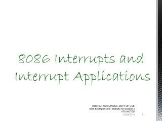8086 Interrupts and Interrupt Applications