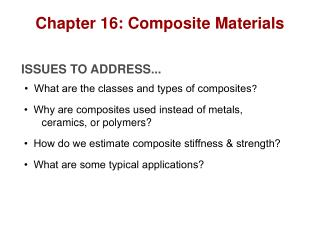 Chapter 16: Composite Materials
