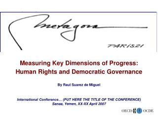 Measuring Key Dimensions of Progress: Human Rights and Democratic Governance By Raul Suarez de Miguel