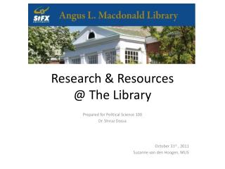 Research & Resources  @ The Library