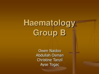 Haematology  Group B