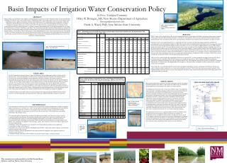 Basin Impacts of Irrigation Water Conservation Policy In Press,  Ecological Economics