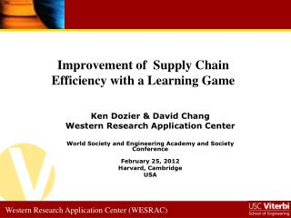Improvement of  Supply Chain Efficiency with a Learning Game
