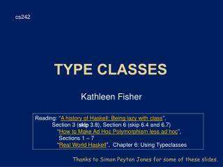 Type Classes