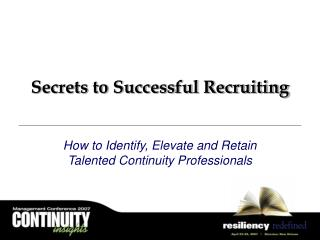 Secrets to Successful Recruiting