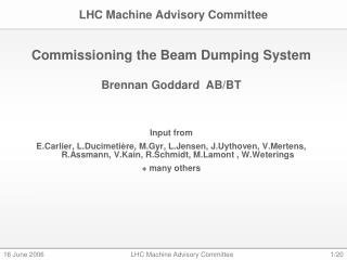 LHC Machine Advisory Committee