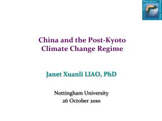 China and the Post-Kyoto  Climate Change Regime