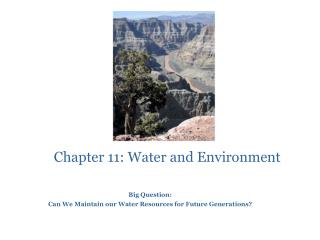 Chapter 11: Water and Environment