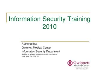 Information Security Training 2010