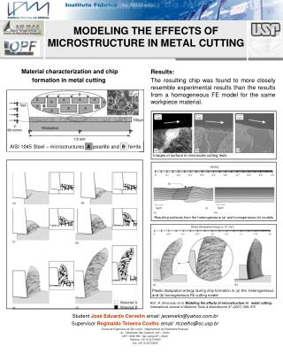 MODELING THE EFFECTS OF MICROSTRUCTURE IN METAL CUTTING