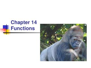 Chapter 14 Functions