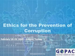 Ethics for the Prevention of Corruption