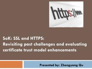 SoK : SSL and HTTPS: