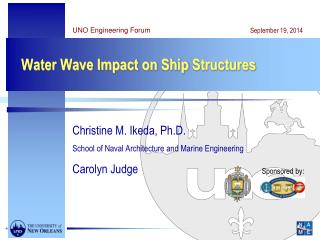 Water Wave Impact on  Ship Structures