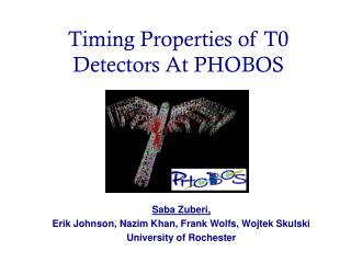 Timing Properties of T0 Detectors At PHOBOS
