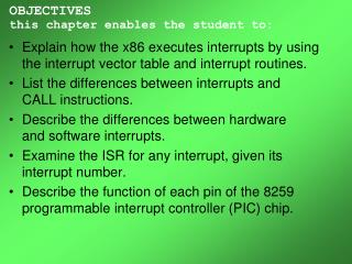 OBJECTIVES this chapter enables the student to: