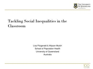 Tackling Social Inequalities in the Classroom