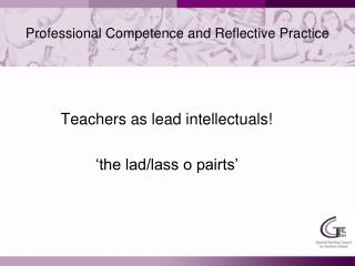 Professional Competence and Reflective Practice